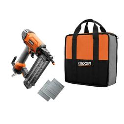 Ridgid 18 Gauge 2-1/8 In. Pneumatic Brad Nailer Nail Gun Kit