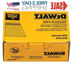 Dewalt 2 inch 2500 Finishing Nails 20 Degree 16 Gauge Collat