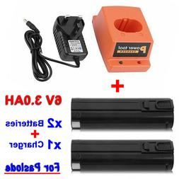 2X 3.0AH Batteries For Paslode 6V Battery Charger Nail Gun 4