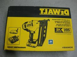 Brand New! DEWALT DCN660D1 Cordless Angled Finish Nailer Kit