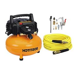 BOSTITCH BTFP02012-WPK 6-Gallon 150 PSI Oil-Free Compressor