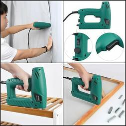Electric Staple Brad Nail Gun Hand Tacker Flooring Framing N