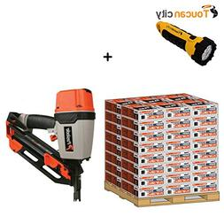 Toucan City LED Flashlight and Paslode 30° 3-1/4 in. x 131