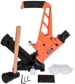 Flooring Nailer Floor Stapler 2-in-1 Dual Handle Nail Gun Wi