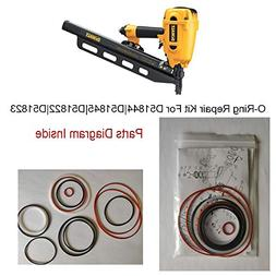 Hakatop O-Ring Kit for DeWALT Framing Nailer Universal D5184