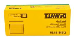DeWalt Heavy Duty 1.25 Inch, 18 Gauge Brad Nails, 5000 Pack