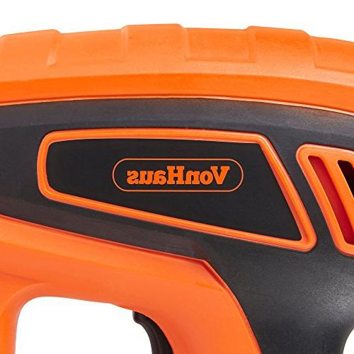 VonHaus 2 1 Brad and Stapler Gun - Staples and 100 Nails Suitable For and
