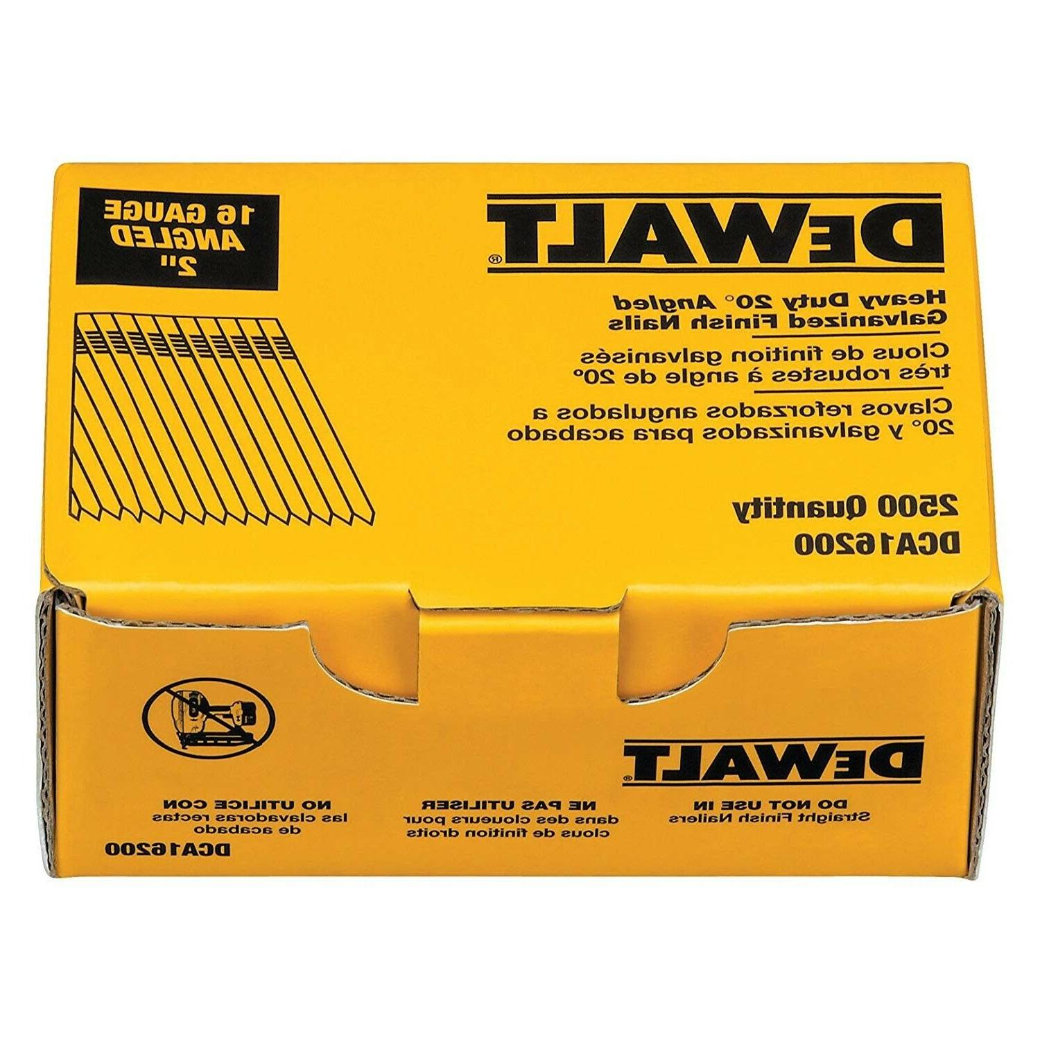 Dewalt Finishing Nails 16 Collated Gun