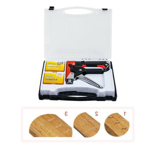 Heavy Duty Staple Gun Stapler Tacker + 900 nails 3in1 powerf
