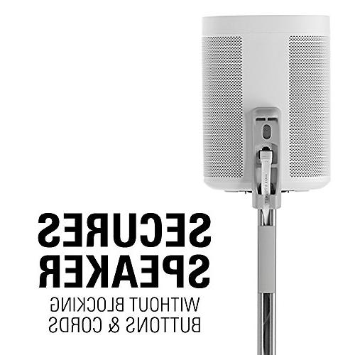 """Sanus Speaker Stands Designed for SONOS ONE, Play:1, and Play:3 - Height Adjust Up 16"""" Management - WSSA2-W1"""