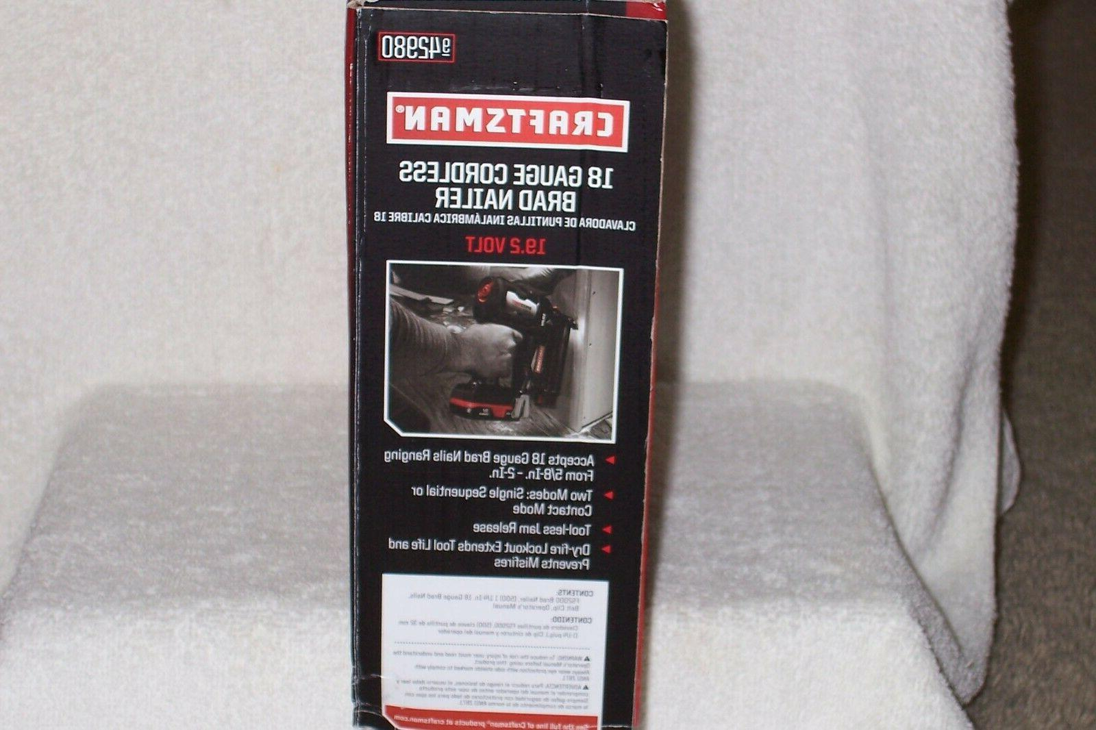 CRAFTSMAN 18 Cordless Speed Shot Brad Nailer NEW