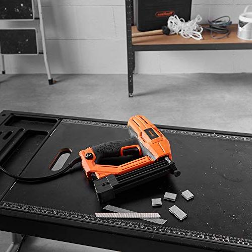 VonHaus Corded Electric Gauge Brad Nailer Stapler Staples and 500 Nails