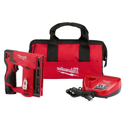 Milwaukee 2447-21 M12 3/8 in. Crown Stapler Kit New