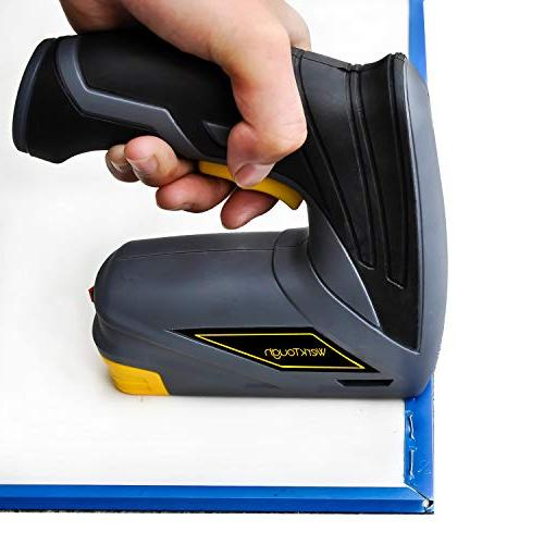 Werktough Gun Stapler with Carrying Box Rechargeable USB Charger