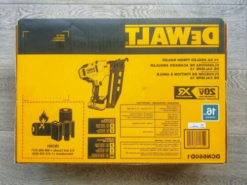 DEWALT Max 16-Gauge Cordless Angled Finish Nailer