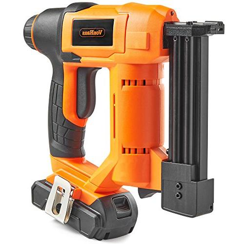 VonHaus 18 Gauge Brad Nailer and Includes 2.0Ah Staples and 500 Nails