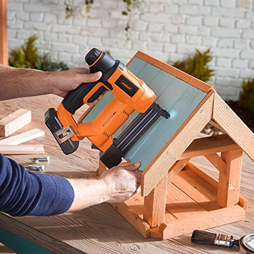 VonHaus 18V 18 Brad and Stapler Kit - Includes Charger, Belt Hook, Staples and Nails