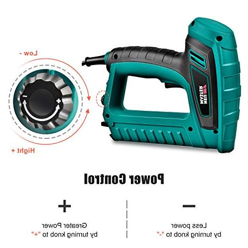 Electric MASTER Staple Gun with Contact Safety Upholstery and Home Includes and 100pcs