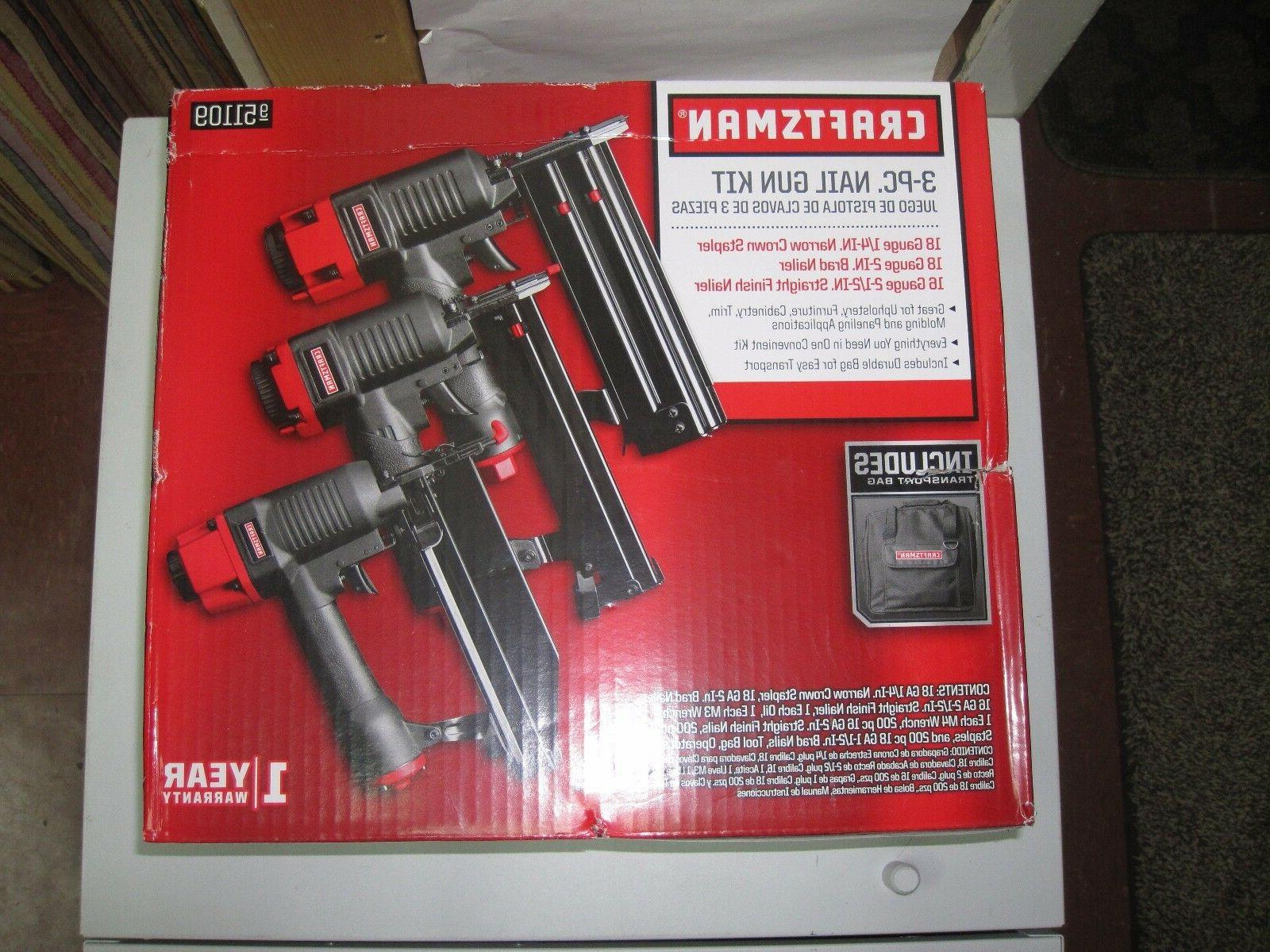 Craftsman pc Gun Kit 951109 Stapler, Finish Nailer