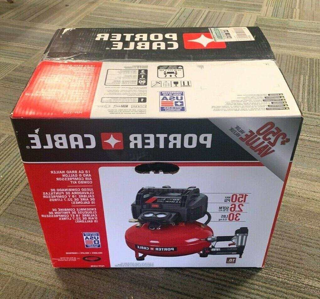 portable electric air compressor set brad nail