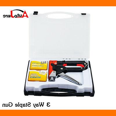 3 in 1 HEAVY DUTY STAPLE GUN TACKER UPHOLSTERY STAPLER + 900