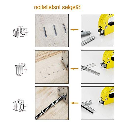 Staple 1 with Staples Heavy Duty for Upholstery, Fixing Material, Decoration, Carpentry, Furniture