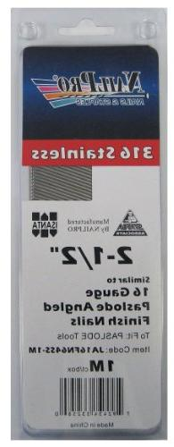 """2-1/2"""" x 16 Gauge Angled Finish Nails - to fit Paslode Naile"""