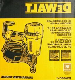NEW DeWalt 15 Degree Coil Siding and Fencing Nailer Model DW