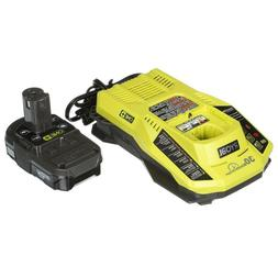 Ryobi P128 Li-Ion 18V Battery and IntelliPort Charger Kit