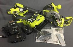 Ryobi P1882 18-Volt ONE+ Lithium-Ion Cordless Combo Kit With