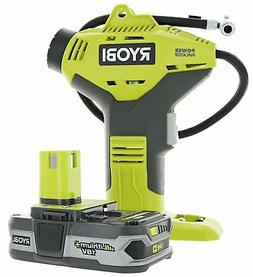 Ryobi P737+P107 ONE Plus Power Inflator with Compact Lithium