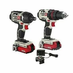 Porter-Cable PCCK602L2 20V MAX Cordless Lithium-Ion 2-Tool C