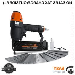 Wen Pneumatic Brad Nailer with 2000 Nails 18-Gauge 3/8 In. t