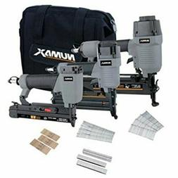 NuMax Pneumatic Finish Combo Kit 18-Gauge 2-in-1 Brad Nailer