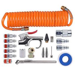 Portable Air Compressor Accessory Tool Starter Kit with Tire