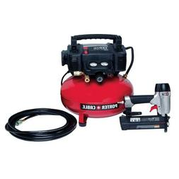 6-Gal. Portable Electric Air Compressor and 18-Gauge Brad Na