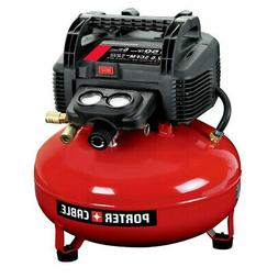 Porter-Cable 0.8 HP 6 Gallon Oil-Free Pancake Air Compressor