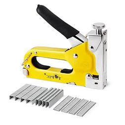 Staple Gun, 3 in 1 Manual Nail Gun with 1800 Staples - Heavy